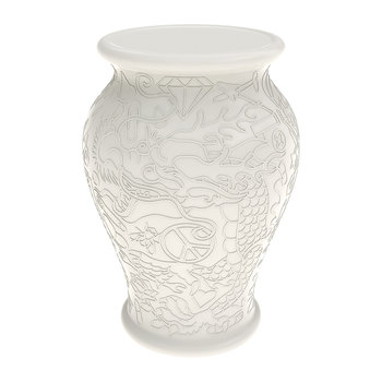 Ming Vase Side Table - White