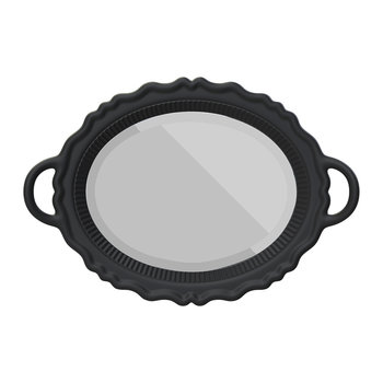 Tray Wall Mirror - Black