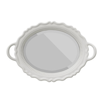 Tray Wall Mirror - White
