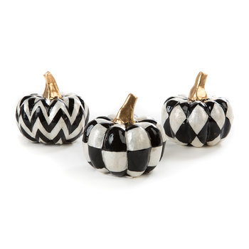 Capiz Pumpkin Ornament - Set of 3