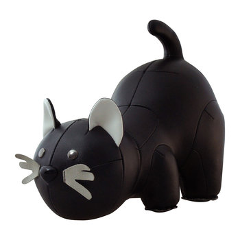 Cat Bookend - Black