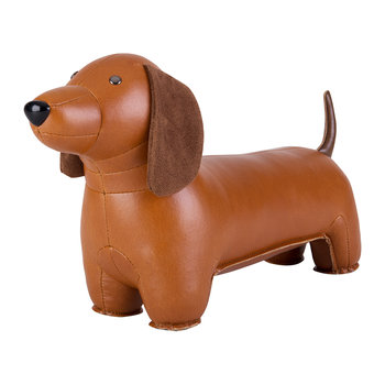 Dachshund Bookend - Tan & Brown