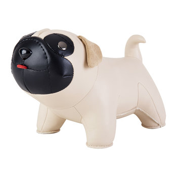 Pug Bookend - Wheat & Black