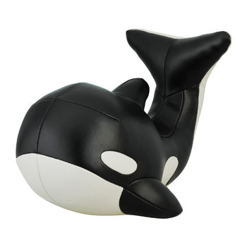 Whale Mumu Bookend - Black & Wheat