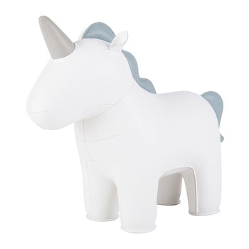 Unicorn Nico Bookend - White