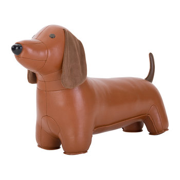 Dachshund Doorstop - Tan & Brown