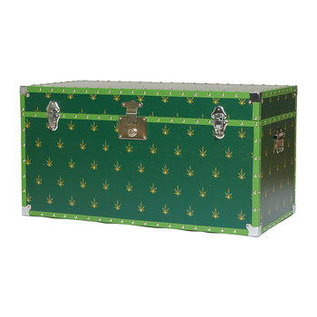 Studded Storage Trunk/Coffee Table - Leaf