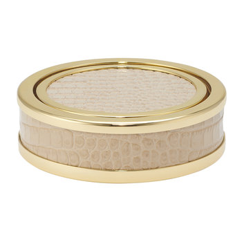 Colette Croc Leather Coaster - Fawn - Set of 4