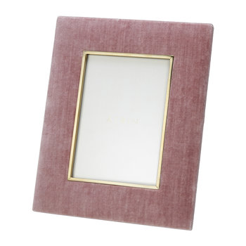 Valentina Velvet Photo Frame - Dusty Rose