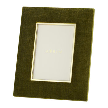 Valentina Velvet Photo Frame - Moss