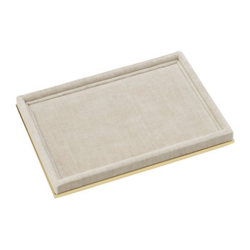 Valentina Velvet Rectangular Tray - London Fog