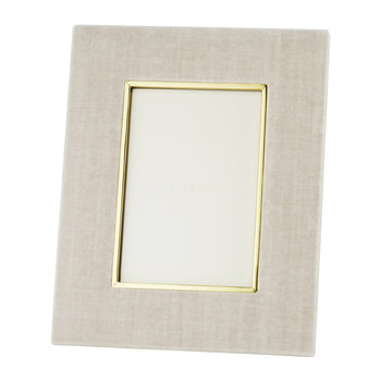 Valentina Velvet Photo Frame - London Fog