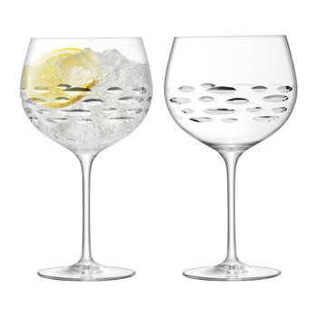 Balloon Gin Glass - Shoal Cut - Set of 2