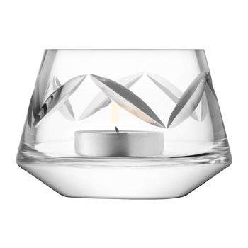 Frieze Tealight Holder - Clear