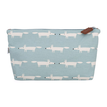 Mr Fox Cosmetic Bag - Sky - Large