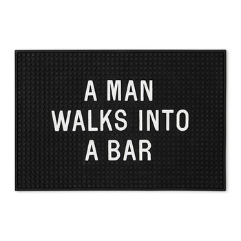 Bar Mat - Man Walks Into A Bar