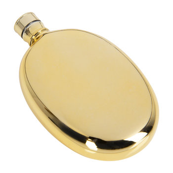 Oval Hip Flask - Gold