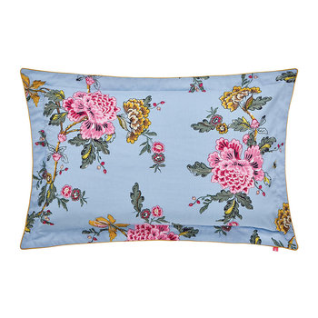 Chinoise Floral Oxford Pillowcase - Blue