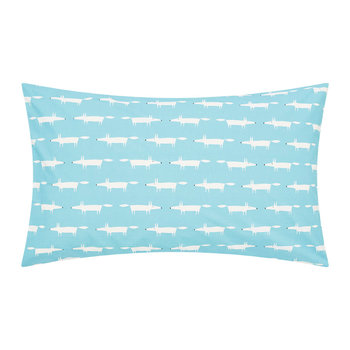 Mr Fox Pillowcase - Set of 2 - Teal