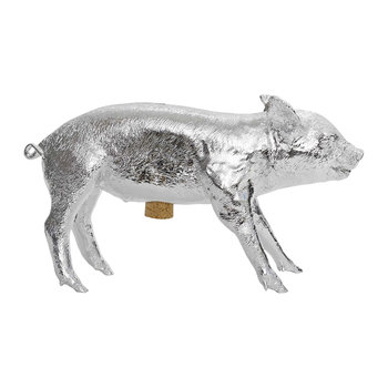 Reality Collection Bank in the Form of a Pig Money Bank - Chrome