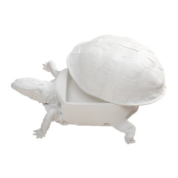 Turtle Trinket Box - White