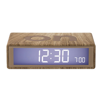 Flip Clock - Light Wood