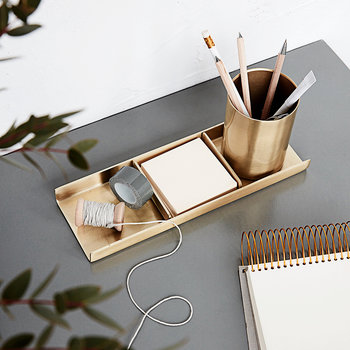 Brass Stationery Organiser