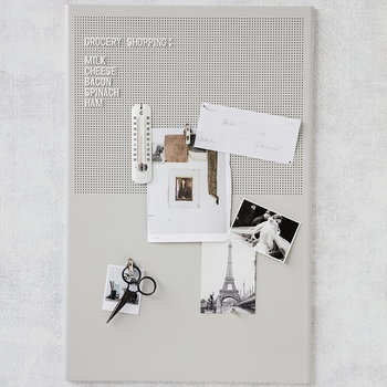Steel Grid Noticeboard - Grey