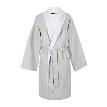 Women's Oxford Bathrobe - Charcoal