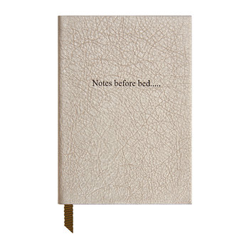 'Notes Before Bed' Small Leather Notebook - Champagne