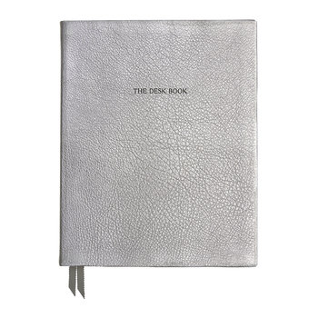 "Calepin en Cuir ""The Desk Book"" - Argent"