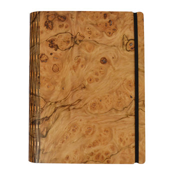 Pepperwood Burr Wooden Notebook - Pocket - 15.5x19cm