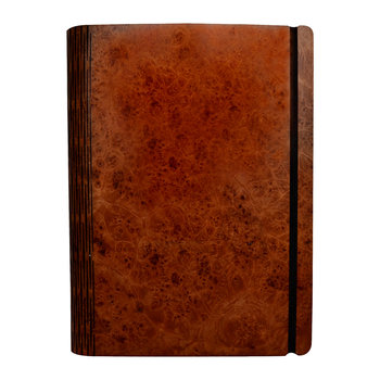 Maple Burr Wooden Notebook - Pocket - 15.5x19cm