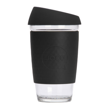 Reusable Glass Travel Cup - 455ml - Black