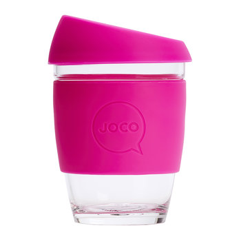 Reusable Glass Travel Cup - 340ml - Pink