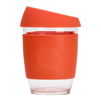 Wiederverwendbarer Glas-Reisebecher - 340ml - Orange