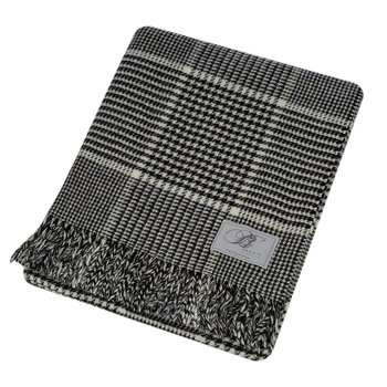 Prince of Wales Merino Lambswool Throw - Black/White