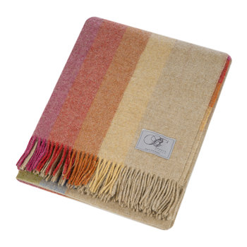 Sunshine Shetland Throw - Harley Stripe
