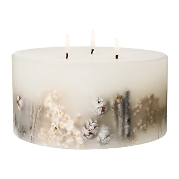 Frosted Woods 3-Wick Pillar Candle