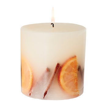 Cinnamon & Orange Fat Pillar Candle