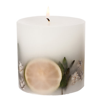Eucalyptus & Lime Fat Pillar Candle