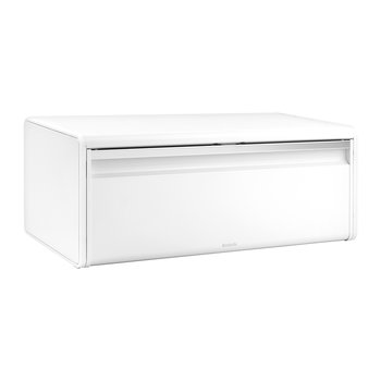 Fall Front Bread Bin - White