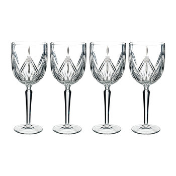 Marquis Lacey Stemware Wine Glasses - Set of 4
