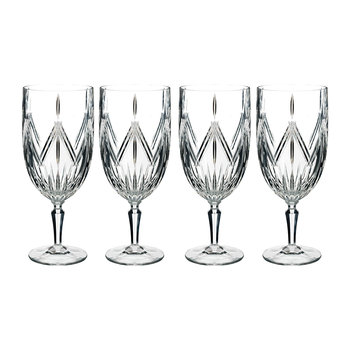 Marquis Lacey Stemware Iced Beverage Glasses - Set of 4