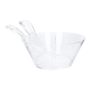 Fulmine Acrylic Salad Bowl Set - Clear