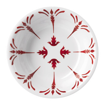 Tessa Soup Plate - Red