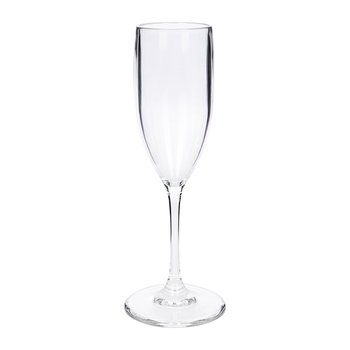 Wine & Drinks Acrylic Champagne Flute - Clear