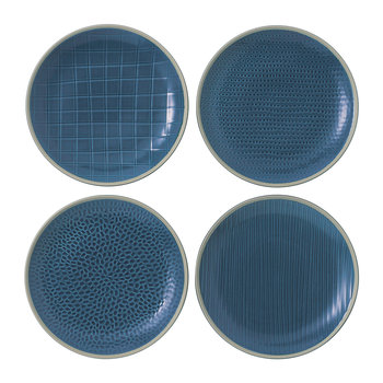 Gordon Ramsay Maze Grill Plates - Set of 4 - Blue