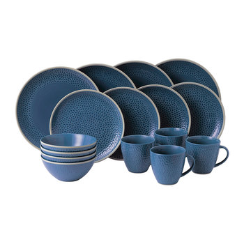 Gordon Ramsay Maze Grill Tableware Set - 16 Piece - Hammer Blue
