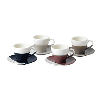 Tasse à Espresso et Soucoupes Coffee Studio - Lot de 4